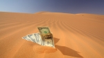 dollars in sand