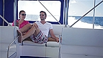 couple in speed boat